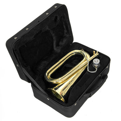 JP Bugle Lacquer INSTRUMENT IN CASE SHOT