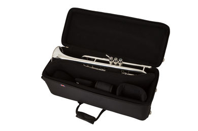 JP Pro Double Trumpet Case Instrument In Case Silver Plate