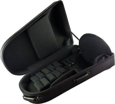 JP860 pro lightweight EEb tuba case open
