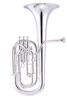JP273 baritone horn instrument shot silver plate high res