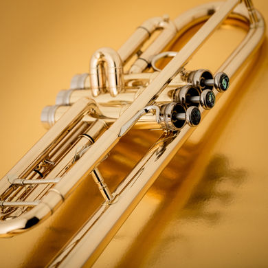 JP351SW HW Bb Trumpet in Lacquer Macro Shot 2