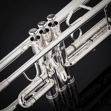 JP351SW HW Bb Trumpet in Silver Plate Macro Shot