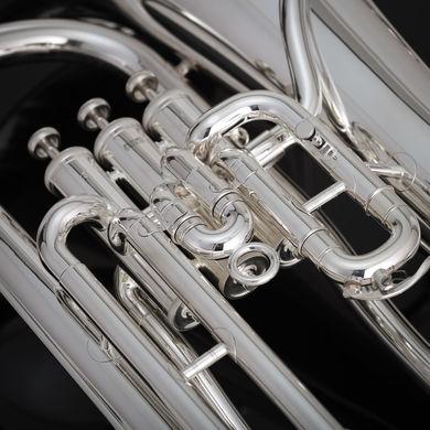 JP074 Euphonium in Silverplate Macro Shot