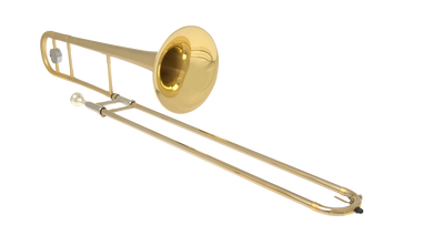 JP231FG RATH Trombone  FROSTED GOLD angled CUTOUT