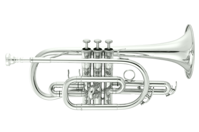 JP071S Bb cornet Silverplate CUTOUT  reduced