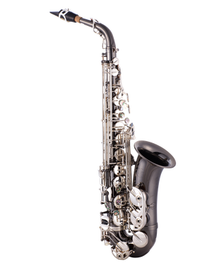 JP045BS Alto Saxophone Eb Blakc Silver Keys CUTOUT reduced