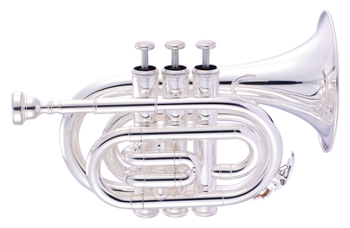 JP159 Bb pocket trumpet Silver Lacquer CUTOUT