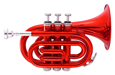 JP159 Bb pocket trumpet Red Lacquer CUTOUT