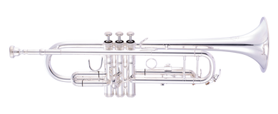 JP151MKII Trumpet Bb silver plate CUTOUT