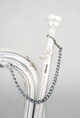 JP Bugle Silver lead pipe and mouthpiece